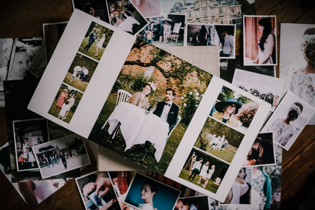 album de mariage luxe ouvert