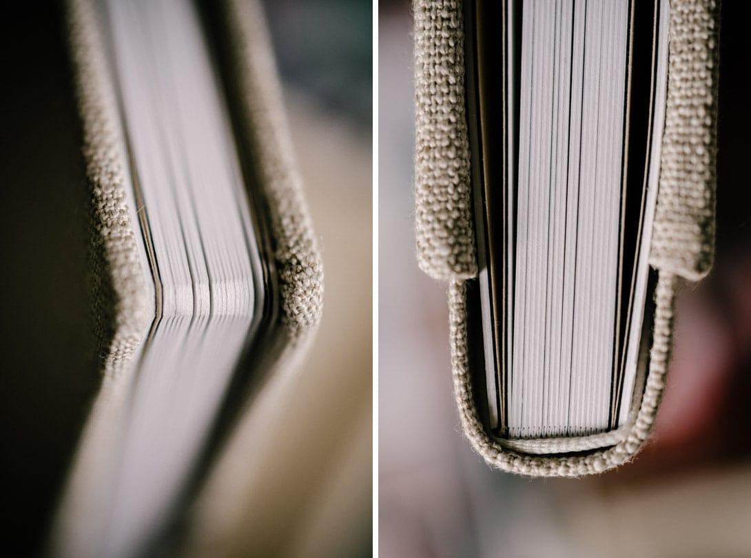 detail livre page epaisse photo album mariage