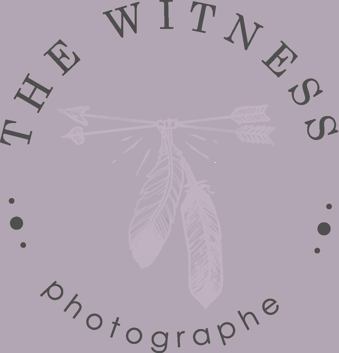 logo photographe the witness mariage et couple normandie