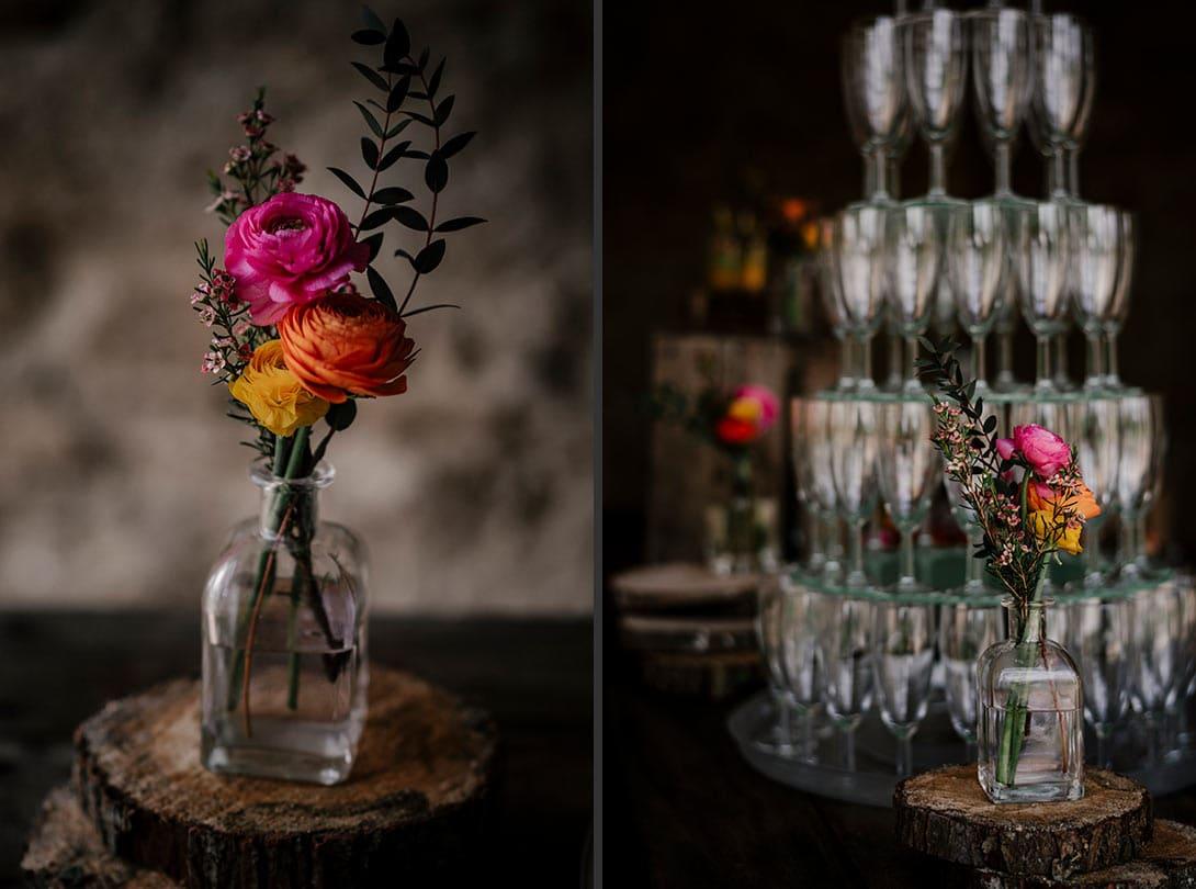details fleur buffet champetre