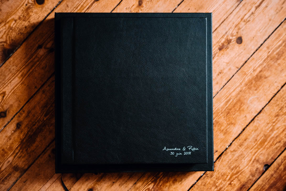 livre mariage prestige couverture simili-cuir noir