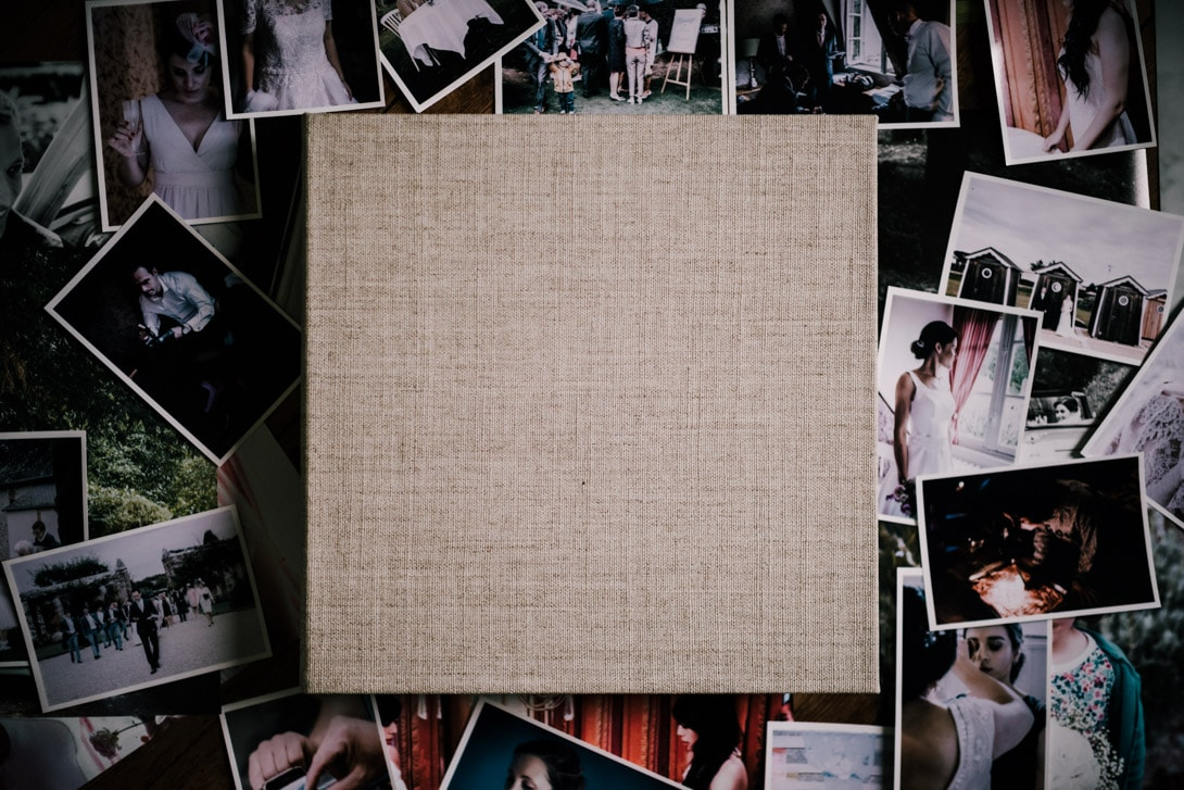 boite lin album mariage