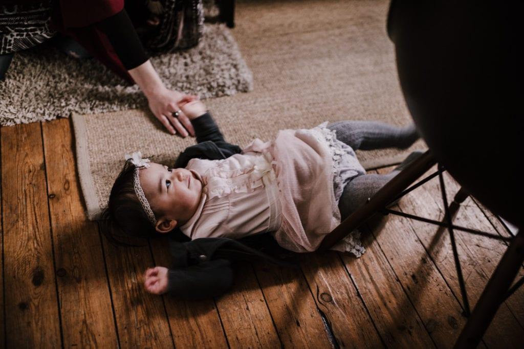photo de famille avec un bébé