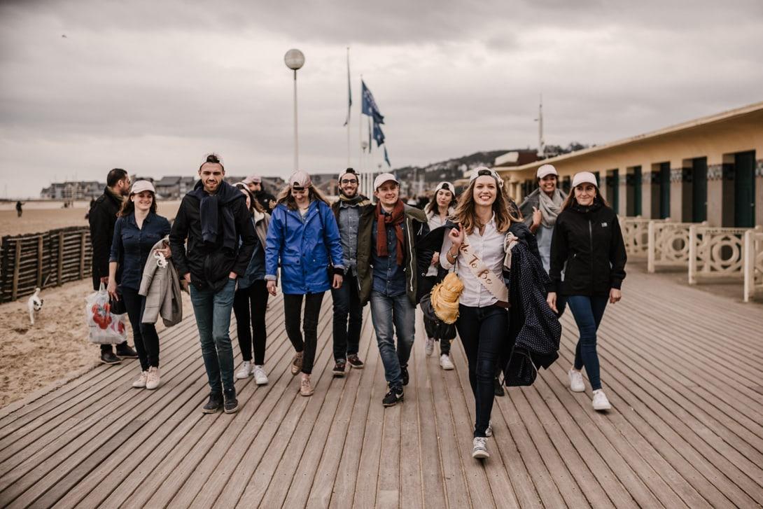 evjf balade sur les planches de Deauville