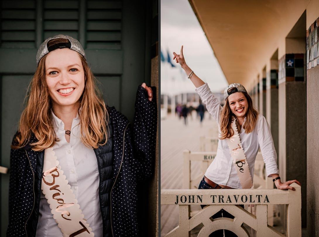 la future mariée lors de son EVJF à Deauville sur les planches