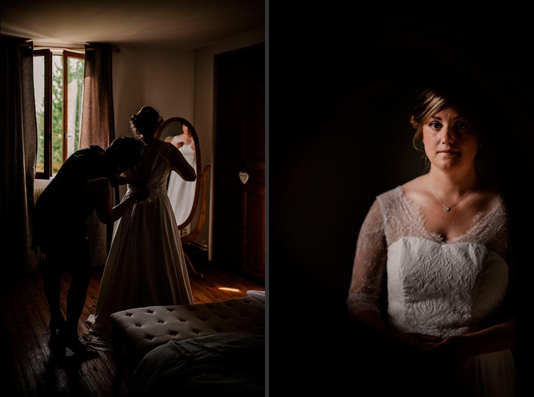 preparatif mariage robe