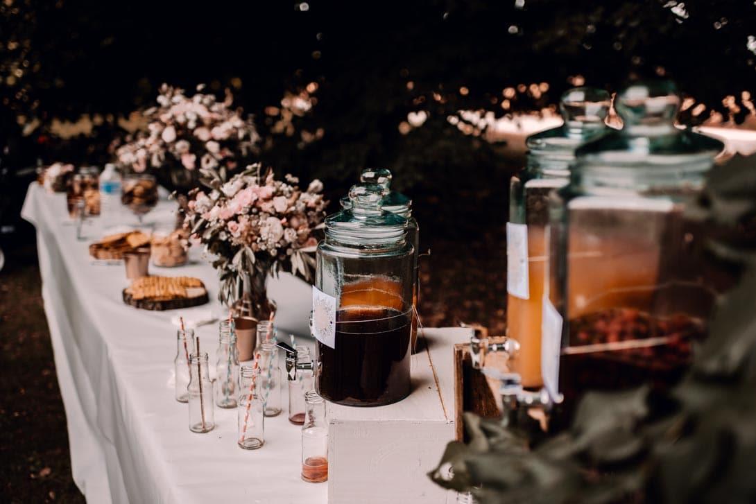 table du goûter champêtre à la ferme d'Armenon