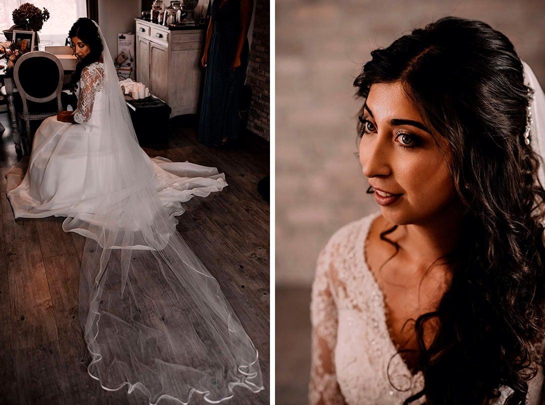 preparatifs de la mariée pour son mariage avant la cérémonie