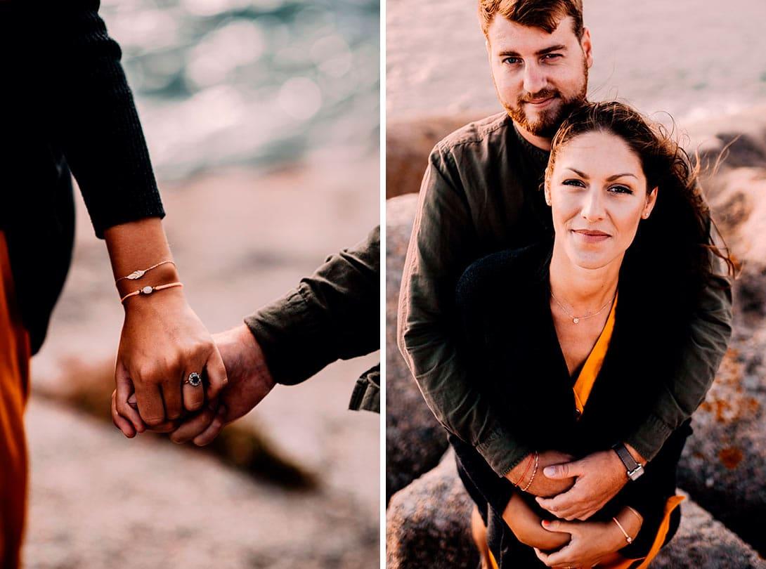 séance engagement couple bretagne