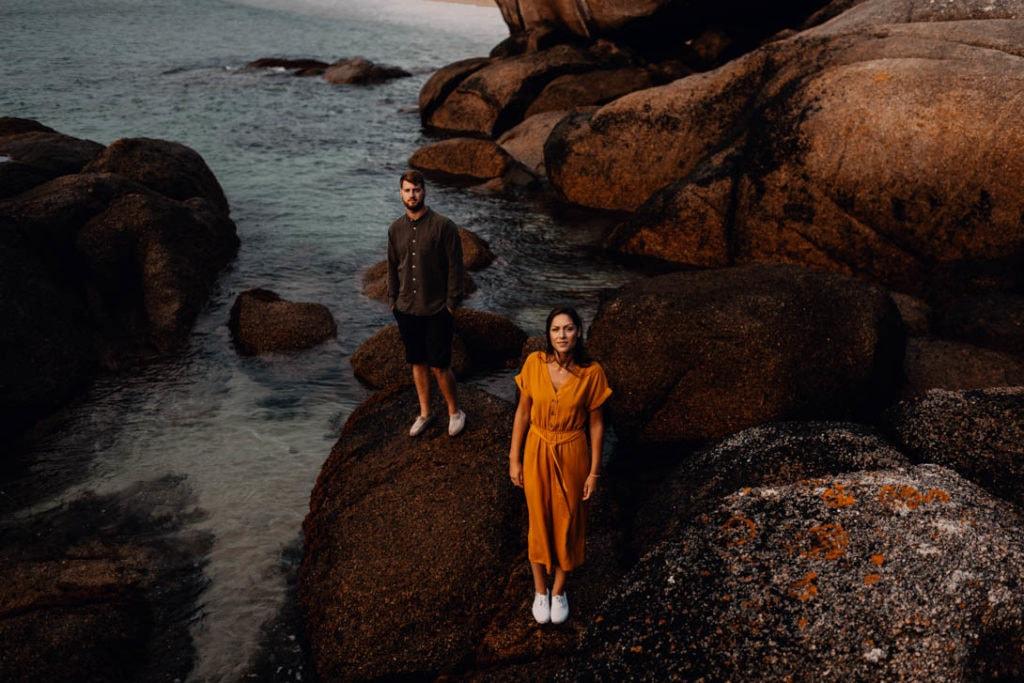 photographe couple session bretagne cote de granit rose