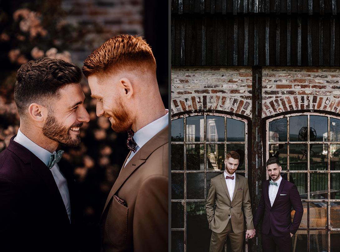 couple de mariés gay aux bonnes joies