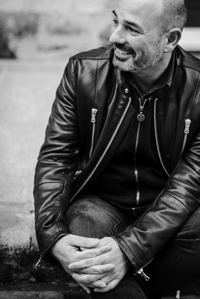 Guillaume, photographe de mariage à Rouen, photo noir et blanc