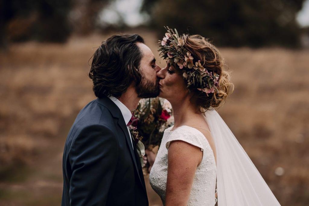 Baiser et émotion pour un mariage à Chantilly dans l'Oise