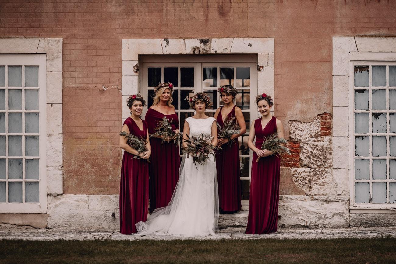 photographe de la mariée élégant et chic, robes demoiselles d'honneur en normandie