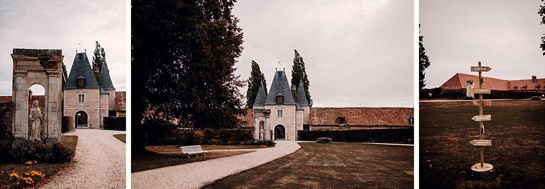 entrée du château de Bonnemare et panneaux de marboinlove